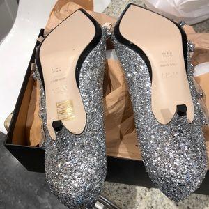87d9ed3392 No. 21 Shoes | Nib No21 Silver Glitter Bow Kitten Heels Sz 95 | Poshmark